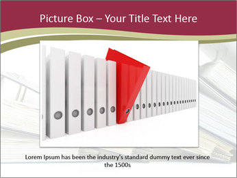 Row of ring binders PowerPoint Template - Slide 16