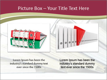 Row of ring binders PowerPoint Template - Slide 18