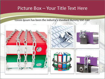 Row of ring binders PowerPoint Template - Slide 19
