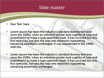 Row of ring binders PowerPoint Template - Slide 2