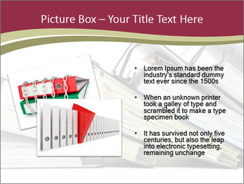 Row of ring binders PowerPoint Template - Slide 20