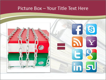 Row of ring binders PowerPoint Template - Slide 21