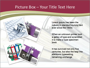 Row of ring binders PowerPoint Template - Slide 23