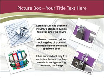 Row of ring binders PowerPoint Template - Slide 24