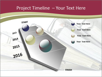 Row of ring binders PowerPoint Template - Slide 26