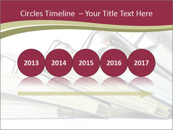 Row of ring binders PowerPoint Template - Slide 29
