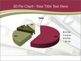 Row of ring binders PowerPoint Templates - Slide 35