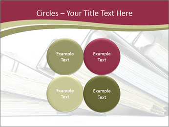 Row of ring binders PowerPoint Templates - Slide 38