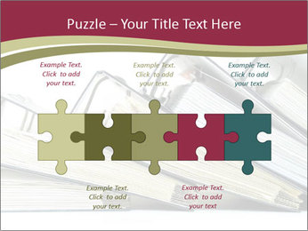 Row of ring binders PowerPoint Templates - Slide 41