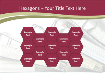 Row of ring binders PowerPoint Template - Slide 44