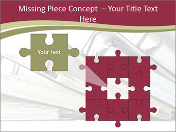Row of ring binders PowerPoint Templates - Slide 45