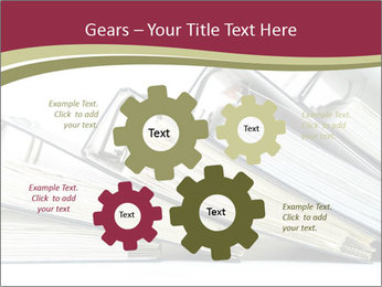 Row of ring binders PowerPoint Template - Slide 47