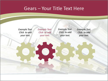 Row of ring binders PowerPoint Template - Slide 48