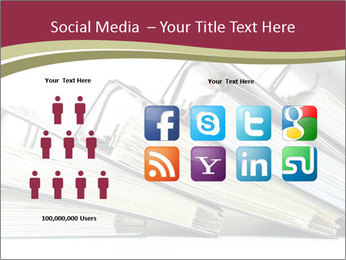 Row of ring binders PowerPoint Template - Slide 5