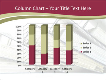 Row of ring binders PowerPoint Template - Slide 50