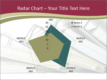 Row of ring binders PowerPoint Templates - Slide 51