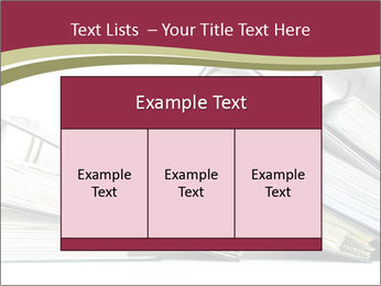Row of ring binders PowerPoint Templates - Slide 59