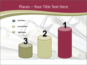 Row of ring binders PowerPoint Template - Slide 65