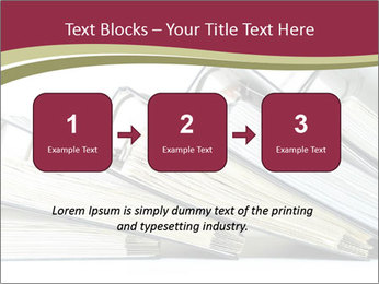 Row of ring binders PowerPoint Templates - Slide 71