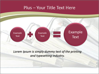 Row of ring binders PowerPoint Template - Slide 75