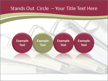 Row of ring binders PowerPoint Template - Slide 76
