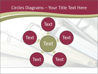 Row of ring binders PowerPoint Template - Slide 78