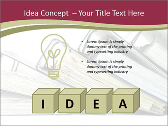 Row of ring binders PowerPoint Template - Slide 80