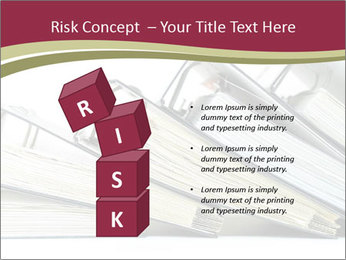 Row of ring binders PowerPoint Templates - Slide 81