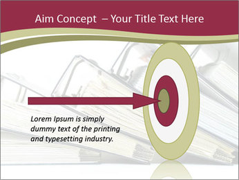 Row of ring binders PowerPoint Template - Slide 83