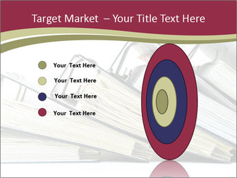 Row of ring binders PowerPoint Template - Slide 84