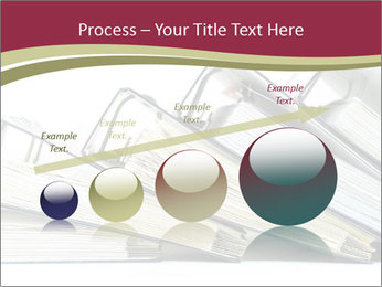 Row of ring binders PowerPoint Template - Slide 87