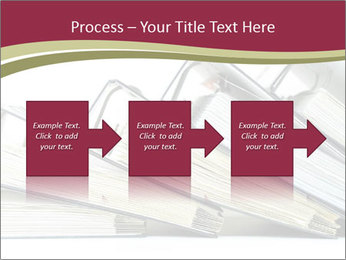 Row of ring binders PowerPoint Template - Slide 88