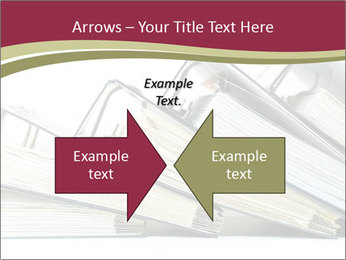 Row of ring binders PowerPoint Templates - Slide 90