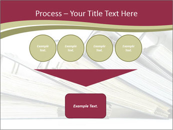 Row of ring binders PowerPoint Template - Slide 93