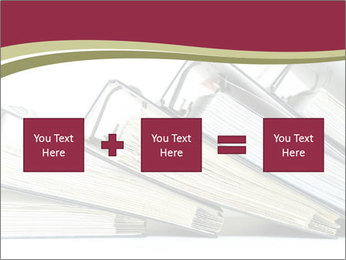 Row of ring binders PowerPoint Templates - Slide 95