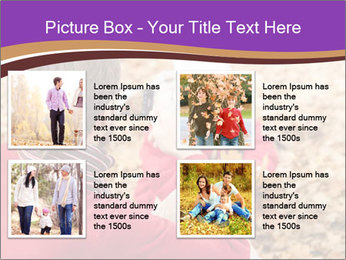 Man taking autumn outdoor PowerPoint Template - Slide 14