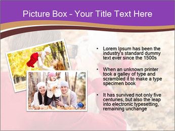 Man taking autumn outdoor PowerPoint Template - Slide 20