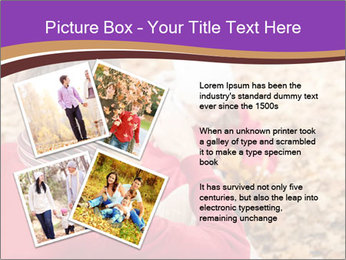 Man taking autumn outdoor PowerPoint Template - Slide 23