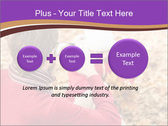 Man taking autumn outdoor PowerPoint Templates - Slide 75