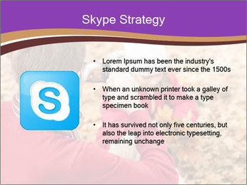 Man taking autumn outdoor PowerPoint Templates - Slide 8