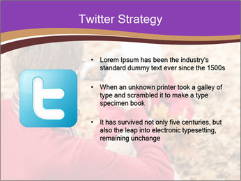 Man taking autumn outdoor PowerPoint Template - Slide 9