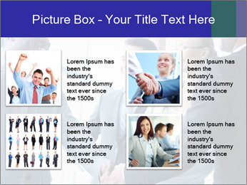 Businessmen handshaking PowerPoint Template - Slide 14