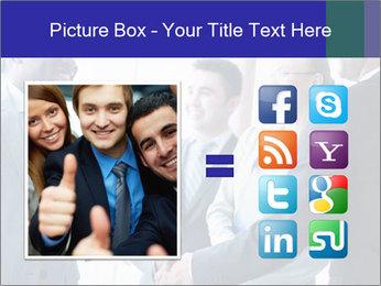 Businessmen handshaking PowerPoint Template - Slide 21