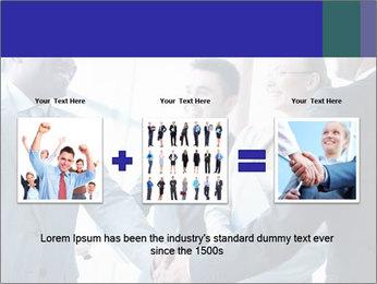 Businessmen handshaking PowerPoint Template - Slide 22