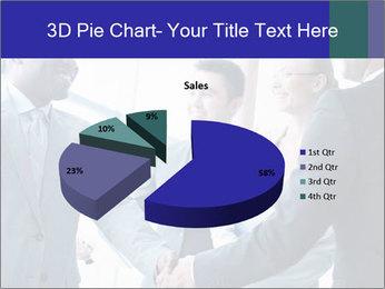 Businessmen handshaking PowerPoint Template - Slide 35