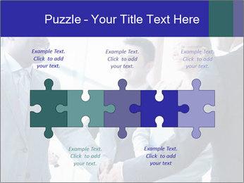 Businessmen handshaking PowerPoint Template - Slide 41