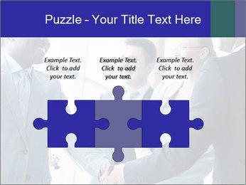 Businessmen handshaking PowerPoint Template - Slide 42