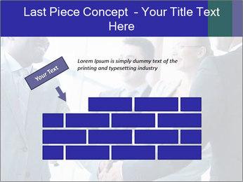 Businessmen handshaking PowerPoint Template - Slide 46