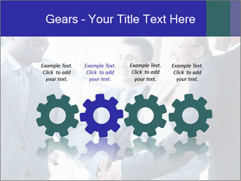 Businessmen handshaking PowerPoint Template - Slide 48