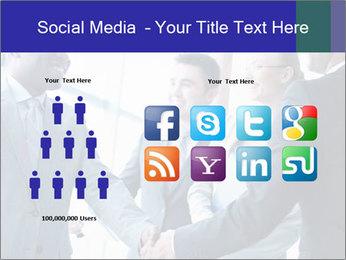 Businessmen handshaking PowerPoint Template - Slide 5